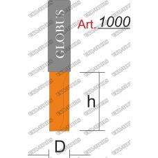 Фреза ГЛОБУС 1000 пазовая прямая z2 D7 h25 d8