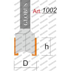Фреза ГЛОБУС 1002 пазовая прямая D14 h15 d8