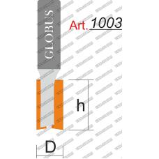 Фреза ГЛОБУС 1003 пазовая прямая D12 h30 d8
