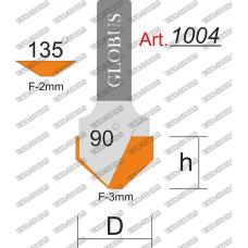 Фреза ГЛОБУС 1004 composit пазовая галтельная O90 D14 h10 d8