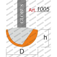 Фреза ГЛОБУС 1005 пазовая галтельная D16 h11 d8