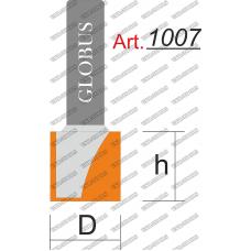 Фреза ГЛОБУС 1007 пазовая прямая D25 h16 L40 d8