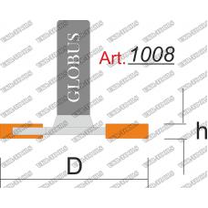 Фреза ГЛОБУС 1008 кромочная фальцевая D33 h2 d8