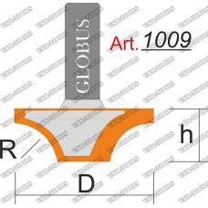 Фреза ГЛОБУС 1009 пазовая фасонная R6 D18 h12 d8