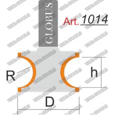 Фреза ГЛОБУС 1014 кромочная фигурная R14 D48 h28 d12