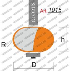 Фреза ГЛОБУС 1015 кромочная галтель с нижним подшипником R12 D38 h24 d8