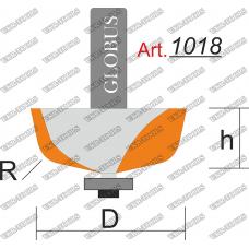 Фреза ГЛОБУС 1018 кромочная калевочная R25 D63 h27 d12