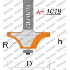 Фреза ГЛОБУС 1019 кромочная калевочная R5 D22 h10 d8