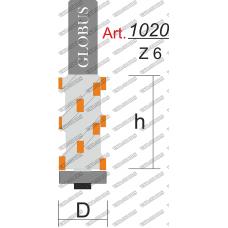 Фреза ГЛОБУС 1020 z6 кромочная прямая z6 D21 h60 d12