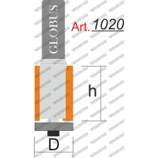 Фреза ГЛОБУС 1020 кромочная прямая D6 h18 d6