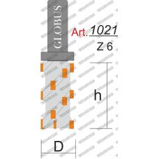 Фреза ГЛОБУС 1021 z6 кромочная прямая z6 D21 h50 d12