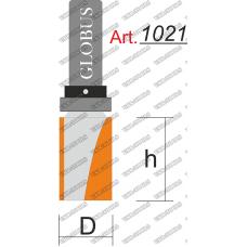 Фреза ГЛОБУС 1021 кромочная прямая с верхним подшипником z2 D16 h40 d8