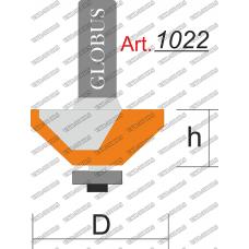 Фреза ГЛОБУС 1022 кромочная конусная D40 h18 d12