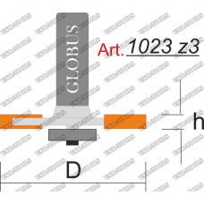 Фреза ГЛОБУС 1023 z3 кромочная фальцевая D40 h8 L50 d8