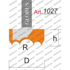 Фреза ГЛОБУС 1027 для изготовления розеток R8 D40 h22 d8