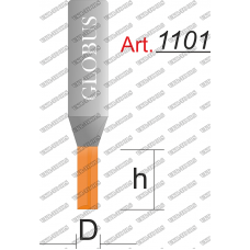 Фреза ГЛОБУС 1101 пазовая прямая z1 D2 h6 d8