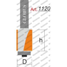 Фреза ГЛОБУС 1120 кромочная прямая z2 D20 h30 d8