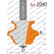 Фреза ГЛОБУС 2040 кромочная фигурная мультипрофильная D38 h28 d8