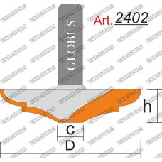 Фреза ГЛОБУС 2402 фигирейная горизонтальная C8 D40 h8 d8