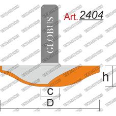 Фреза ГЛОБУС 2404 фигирейная горизонтальная C12 D60 h9 d12