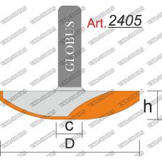 Фреза ГЛОБУС 2405 фигирейная горизонтальная C15 D50 h11 d8