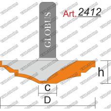Фреза ГЛОБУС 2412 фигирейная горизонтальная C10 D50 h8 d8