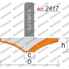 Фреза ГЛОБУС 2417 фигирейная горизонтальная C14 D60 h11 d12