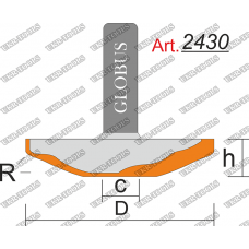 Фреза ГЛОБУС 2430 фигирейная горизонтальная C14 D60 h16 d12