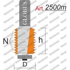 Фреза ГЛОБУС 2500m кромочная фигурная C3 N5 h30 d8