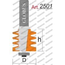 Фреза ГЛОБУС 2501 кромочная фигурная с нижним подшипником D33 h50 d12
