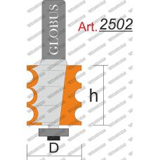 Фреза ГЛОБУС 2502 кромочная фигурная с нижним подшипником R3 D22 h25 d8