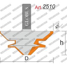 Фреза ГЛОБУС 2510 пазовая фасонная D50 h22 d8