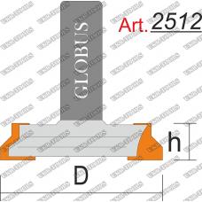 Фреза ГЛОБУС 2512 Пазовая конструкционная T16-25 D32 h13 d8