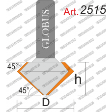 Фреза ГЛОБУС 2515 кромочная конусная D48 h30 d12