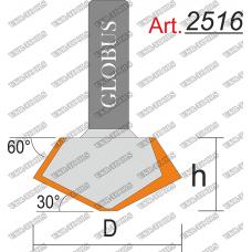 Фреза ГЛОБУС 2516 кромочная конусная D68 h30 d12