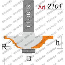Фреза ГЛОБУС 2101 кромочная калевочная R6 D40 h10 d8