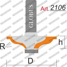 Фреза ГЛОБУС 2106 кромочная калёвочная R4 D33 h8 d8
