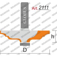 Фреза ГЛОБУС 2111 кромочная калёвочная R3 D40 h8 d8