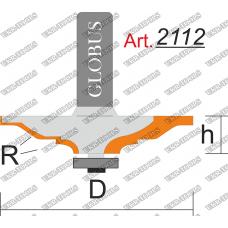 Фреза ГЛОБУС 2112 фигирейная горизонтальная R3 D40 h12 d8