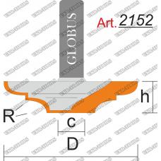 Фреза ГЛОБУС 2152 пазовая фасонная R3 D22 h6 d8