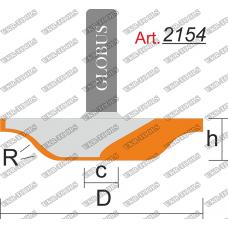 Фреза ГЛОБУС 2154 пазовая фасонная R4 D28 h8 d8