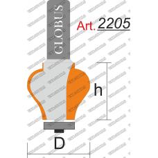 Фреза ГЛОБУС 2205 кромочная фигурная D35 h40 d12