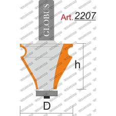 Фреза ГЛОБУС 2207 кромочная фигурная с нижним подшипником D32 h35 d8