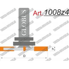 Фреза ГЛОБУС 1008z4 кромочная фальцевая D36 d8 h6 z4