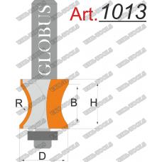 Фреза ГЛОБУС 1013 кромочная фигурная D28 d8 R20 h36