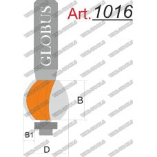 Фреза ГЛОБУС 1016 кромочная галтель c нижним подшипником D26 d8 R35 h38
