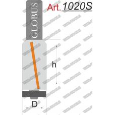 Фреза ГЛОБУС 1020S кромочная прямая с нижним подшипником D16 d8 L80 h40
