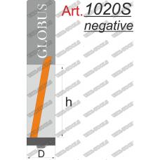 Фреза ГЛОБУС 1020SN кромочная прямая с нижним подшипником D12 d12 L110 h50