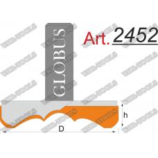Фреза ГЛОБУС 2452 для изготовления декоративных розеток D50 d8 h22