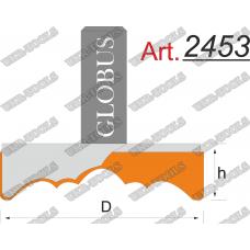 Фреза ГЛОБУС 2453 для изготовления декоративных розеток D50 d8 h22
